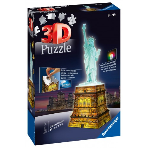 3D PUZZLE NIGHT EDITION 108 ΤΕΜ. ΑΓΑΛΜΑ ΤΗΣ ΕΛΕΥΘΕΡΙΑΣ